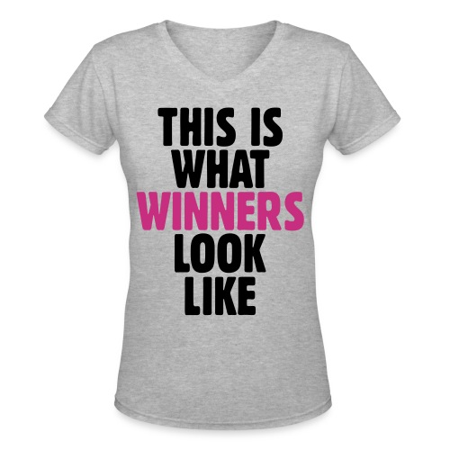 Women's Athletic Winners Shirt - Women's V-Neck T-Shirt