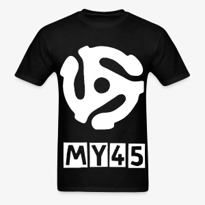 My 45 white on Black - Men's T-Shirt