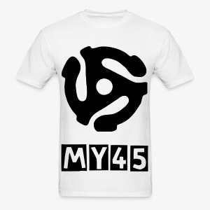 MY 45 Black on White - Men's T-Shirt