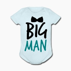 BIG MAN with a black Bow Tie Baby Bodysuits