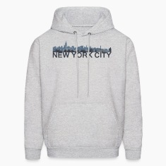 New York City Skyline - Gray Hoodie