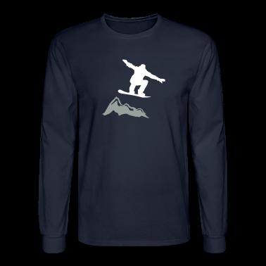 Snowboarder jump mountain long sleeve shirts t shirt for Mountain long sleeve t shirts