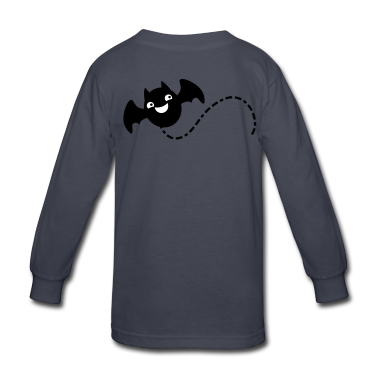 smiling bat flying with a trail Kids' Shirts