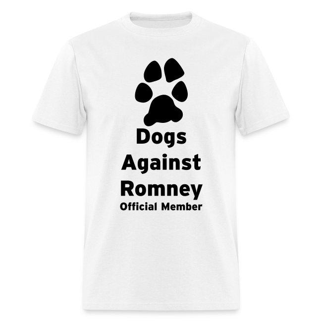 Official Dogs Against Romney Basic Mens Tee