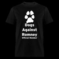 T-Shirts ~ Men's T-Shirt ~ Official Dogs Against Romney Basic Mens Tee