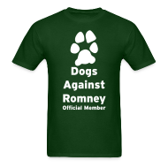 T-Shirts ~ Men's T-Shirt ~ Official Dogs Against Romney Basic Mens Tee