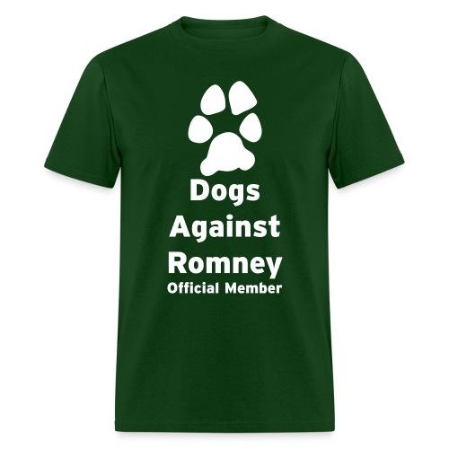 Official Dogs Against Romney Basic Mens Tee - Men's T-Shirt