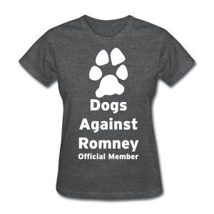 Official Dogs Against Mitt Romney Dog On Roof Story T-Shirt - Women's T-Shirt