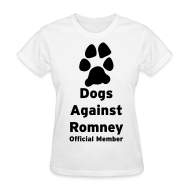 Women's T-Shirts ~ Women's T-Shirt ~ Official Dogs Against Romney Basic Womens Tee