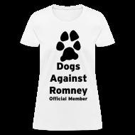 Women's T-Shirts ~ Women's T-Shirt ~ Official Dogs Against Romney Basic Womens Tee