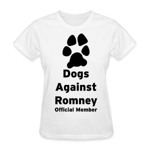 Official Dogs Against Romney Basic Womens Tee - Women's T-Shirt