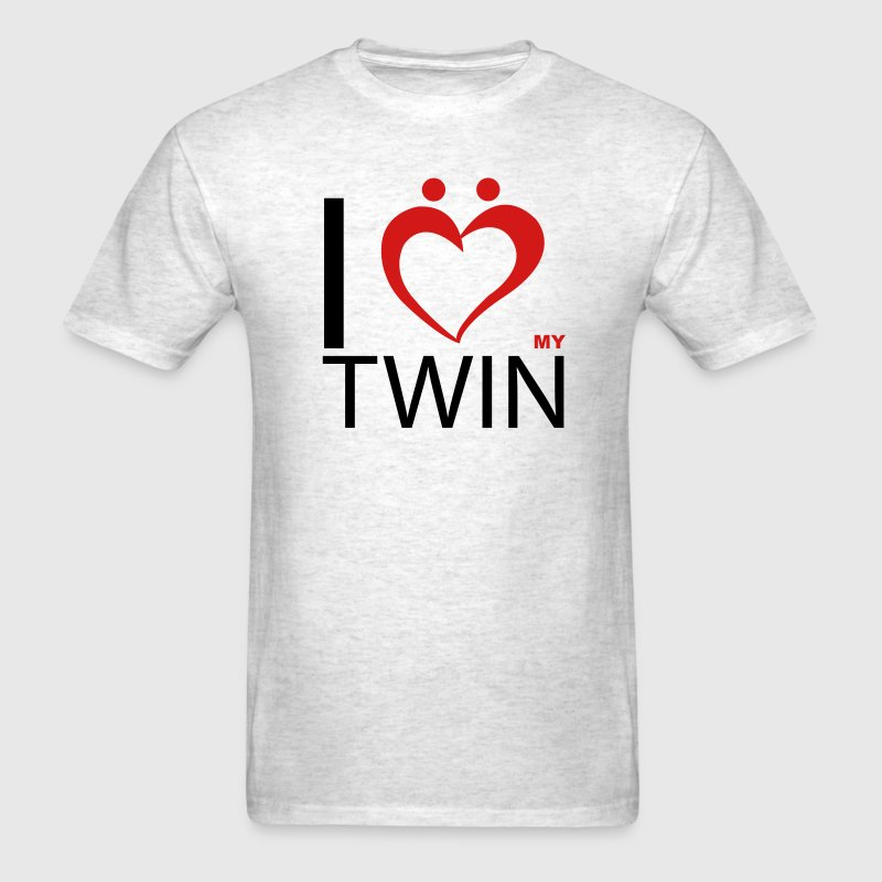 I Love my Twin - Men's T-Shirt