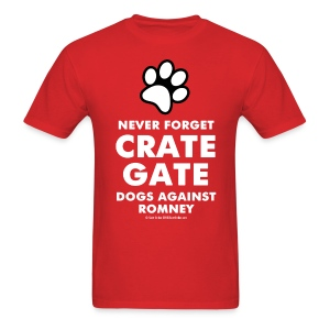 Official Dogs Against Romney Never Forget Crate Gate Tee - Men's T-Shirt