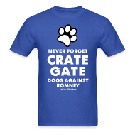 T-Shirts ~ Men's T-Shirt ~ Official Dogs Against Mitt Romney Dog On Roof T-Shirt