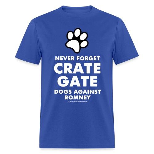 Official Dogs Against Mitt Romney Dog On Roof T-Shirt - Men's T-Shirt