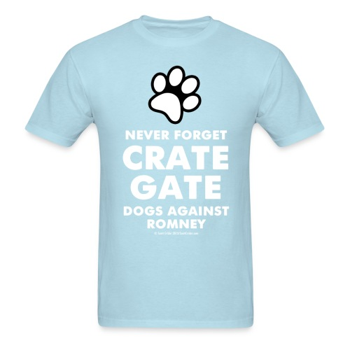Official Dogs Against Romney Crate Gate Tee - Men's T-Shirt
