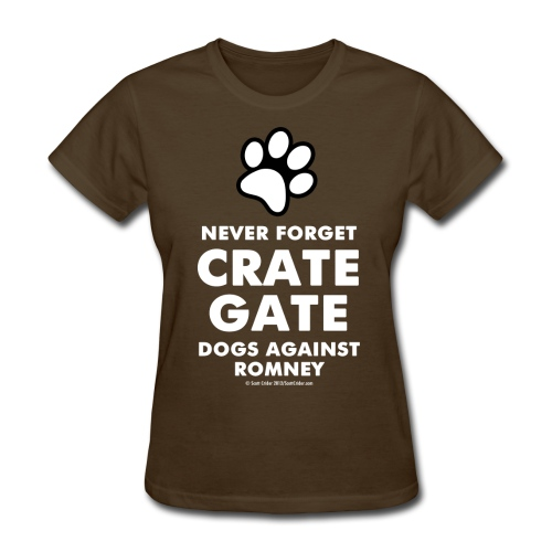 Official Dogs Against Romney Crate Gate Womens Tee - Women's T-Shirt