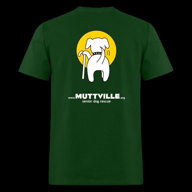 "Men's Muttville ""senior dogs rule"" tee"