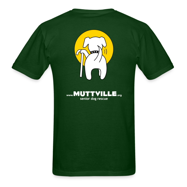 "Men's Muttville ""senior dogs rule"" tee"