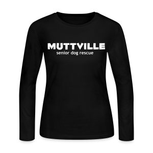 Women's Muttville long sleeve tee (black) - Women's Long Sleeve Jersey T-Shirt