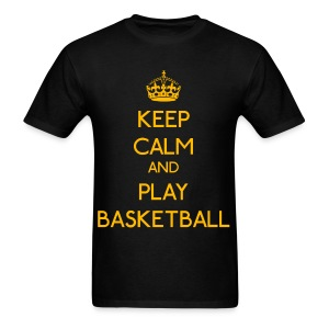 Keep Calm and Play Basketball (Yellow) - Men's T-Shirt