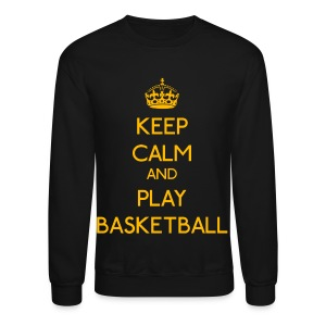 Keep Calm and Play Basketball (Yellow) - Crewneck Sweatshirt