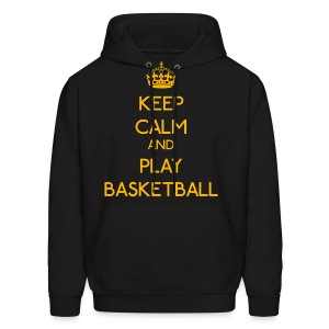 Keep Calm and Play Basketball (Yellow) - Men's Hoodie