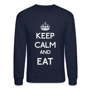 Keep Calm and Eat (Larger) - Crewneck Sweatshirt