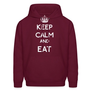 Keep Calm and Eat (Larger) - Men's Hoodie
