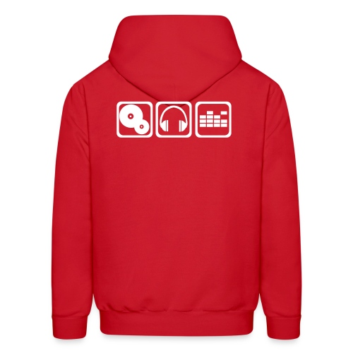 Mens' Spin Syndicate DJ w/white lettering - Men's Hoodie
