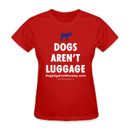 T-Shirts ~ Women's T-Shirt ~ Official Dogs Against Romney Dogs Arent Luggage Women's 2-Color Tee