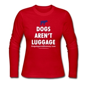 Official Dogs Against Mitt Romney Dog Story Longlseeve Tee - Women's Long Sleeve Jersey T-Shirt