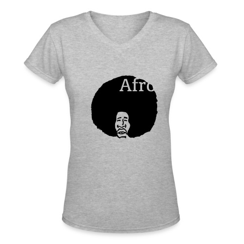 AFRO T~SHIRT - Women's V-Neck T-Shirt