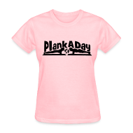T-Shirts ~ Women's T-Shirt ~ PlankADay/'Will Plank for Six Pack' Womens T-shirt