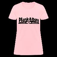 Women's T-Shirts ~ Women's T-Shirt ~ PlankADay/'Will Plank for Six Pack' Womens T-shirt