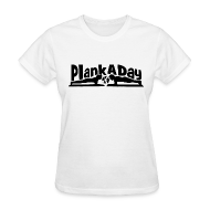 Women's T-Shirts ~ Women's T-Shirt ~ PlankADay/'I'm a Planker' Womens T-shirt