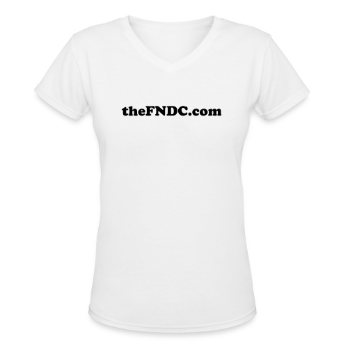Women's V-Neck Black Writing - Women's V-Neck T-Shirt