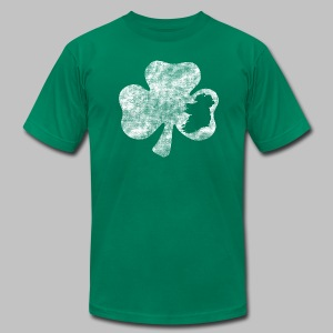 Ireland Shamrock - Men's T-Shirt by American Apparel