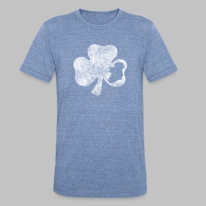 Ireland Shamrock - Unisex Tri-Blend T-Shirt by American Apparel
