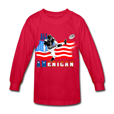 All American Football Field Goal Kicker Kids' Shirts