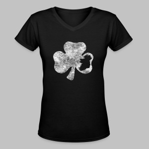 Ireland Shamrock - Women's V-Neck T-Shirt