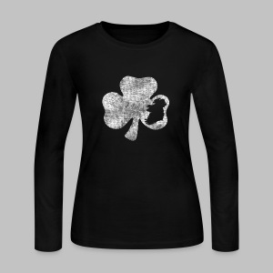 Ireland Shamrock - Women's Long Sleeve Jersey T-Shirt