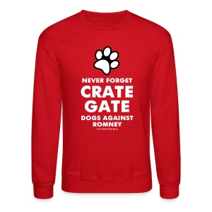Official dogs Against Romney Crate Gate Sweatshirt - Crewneck Sweatshirt