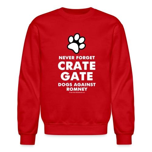 Official dogs Against Romney Crate Gate Sweatshirt - Crewneck Sweatshirt
