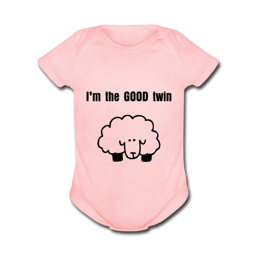 I'm the GOOD twin one piece - Organic Short Sleeve Baby Bodysuit