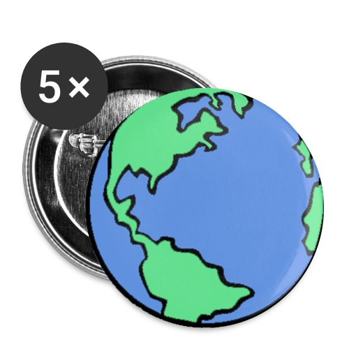 Globe pin - Large Buttons