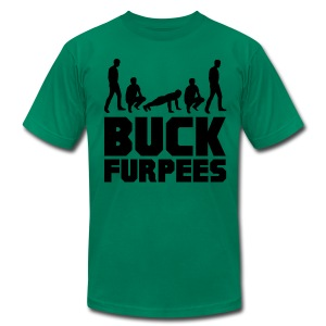 Men's Buck Furpees - Men's T-Shirt by American Apparel