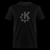 T-Shirts ~ Men's T-Shirt ~ Distressed Gray KDE logo