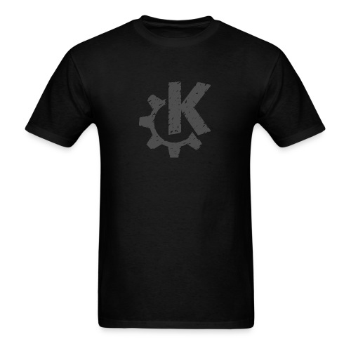 Distressed Gray KDE logo - Men's T-Shirt