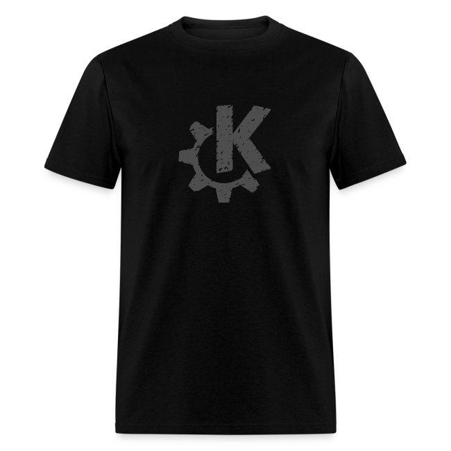 Distressed Gray KDE logo